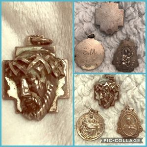 Jewelry - SALE Sterling Silver Vintage Religious Charms